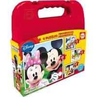 Mickey Club House Maletín 4 Puzzles Progresivos
