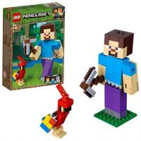 Lego Minecraft Bigfig Steven con Loro