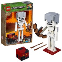 Lego Minecraft Bigfig Esqueleto C/Cubo De Magma