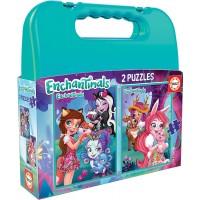 Enchantimals Maletin 2 Puzzles 48 Piezas