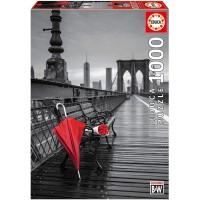 Puzzle Paraguas Rojo 1000 Piezas