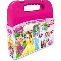 Princesas Maletín Puzzles Progresivos