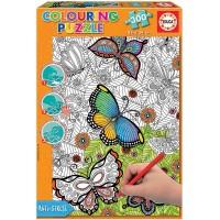 Puzzle Colouring All Good Things Are Wild And Free 300 Piezas
