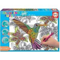 Puzzle Colouring Hummingbird 300 Piezas
