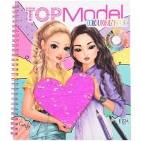 Top Model Libro Colorear Con Lentejuelas