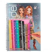 Top Model Cuaderno Colorear C/lapices de Colores