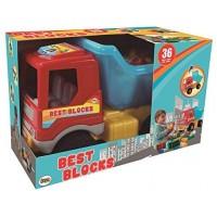 Camion Volquete Con Bloques