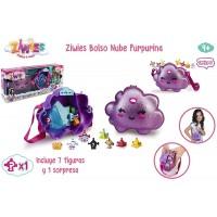 Ziwies Bolso Nube Purpurina