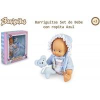 Barriguitas y Set De Bebé Azul