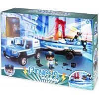 Pinypon Action Pickup De Policia Con Lancha