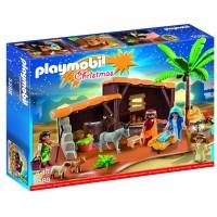 Belén Con Establo de Playmobil