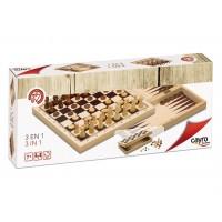 Ajedrez, Damas y Backgammon Plegable