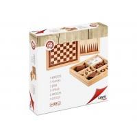 Ajedrez, Damas y Backgammon 3 en 1