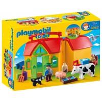 Granja Maletín de Playmobil 1,2,3