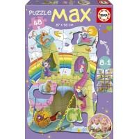PUZZLE MAX PRINCESAS Y CABALLEROS