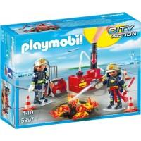 Equipo De Bomberos De Playmobil