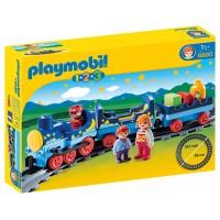 Playmobil 1,2,3 Tren Con Vías