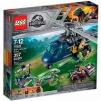 Persecuión En Helicóptero De Lego Jurassic World